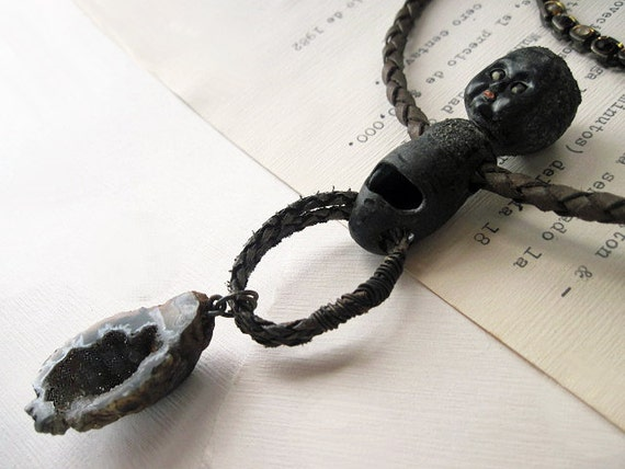 Damn Thing Gone Wild. Black Geode and Baby Doll Choker.
