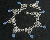 Kyanite and Sterling Silver Anklet