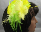 Yellow Feather Fascinator Kentucky Derby Wedding Hat
