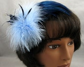 Singing the Blues Feather Fascinator Kentucky Derby or Wedding Hat