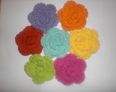 Crochet Roses - Bright Colors multi-pack