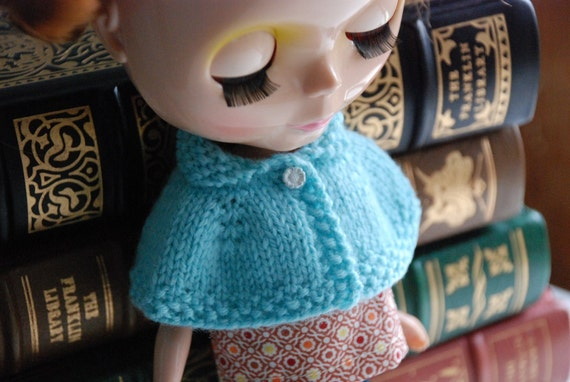 Cozy and Chic Blythe Capelet in Aqua