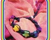 rainbow stars hemp bracelet