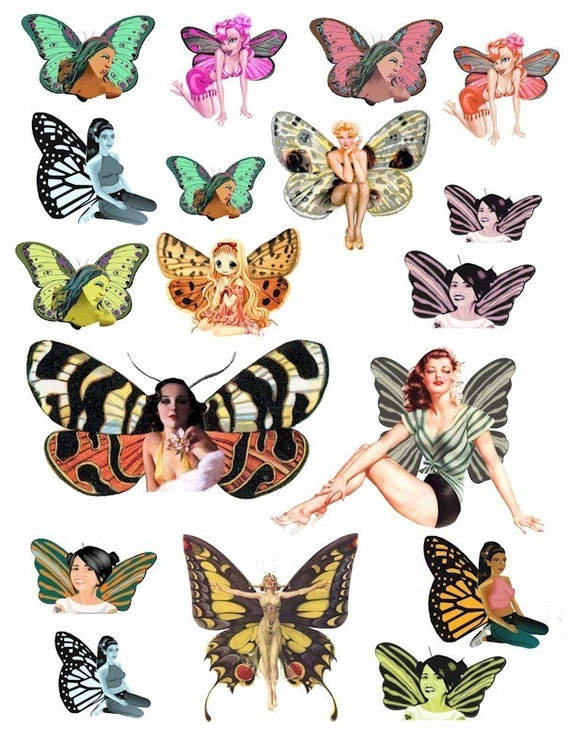 vintage fairy pin up girl images clip art by ...