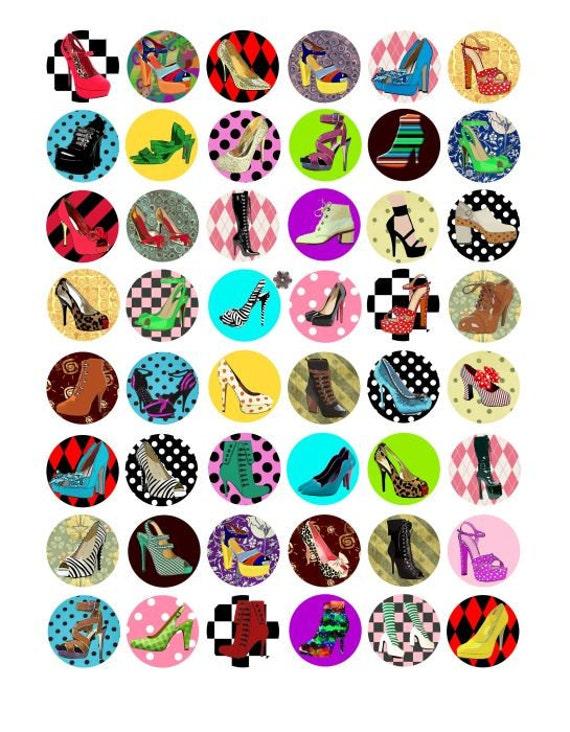1 inch circles pendants digital collage by digitalgraphicsshop