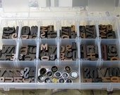 75 pieces Letterpress PLUS 12 Typewriter Keys VINTAGE
