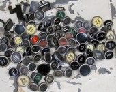Vintage Typewriter Keys - Grunge Bulk Lot