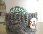 Coffee sleeve cuff grey matryoshka