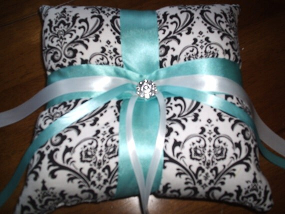 Madison Damask Ring Bearer Pillow