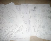 Iron On Transfer Sheets - Everything From A to Z - Huge Lot of Transfer Papers - Iron On Transfers - Paper Transfers - Craft Supply
