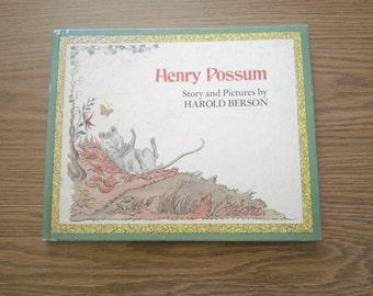 Vintage Childrens Book - Henry Possum Book - Harold Berson 1973 Book - Animal Book - Reading Book - Weekly Reader Book