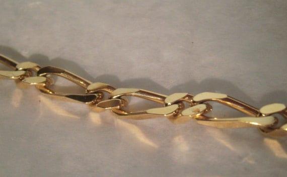 Vintage Monet Necklace Long Gold Chain Link Necklace