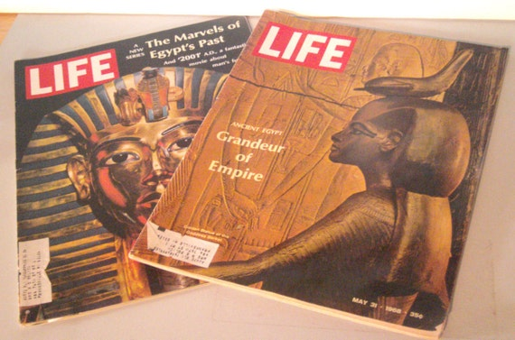 Vintage LIFE magazines -1968 - Ancient Egypt - Egyptian Stories - King Tut - Pharaohs - Egyptian Exploration - Tombs
