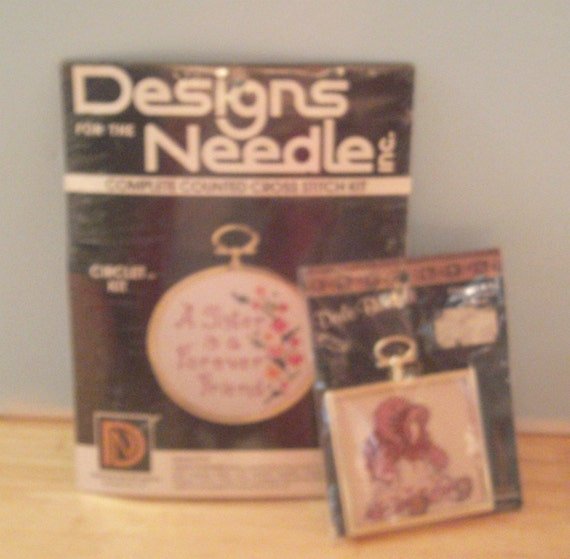 Cross Stitch Kits - 2 Kits -  Dale Burdett Doll Baby - Sister  #319 Designs For The Needle - Crafting Kits - Stitchery Kits - Craft Supply