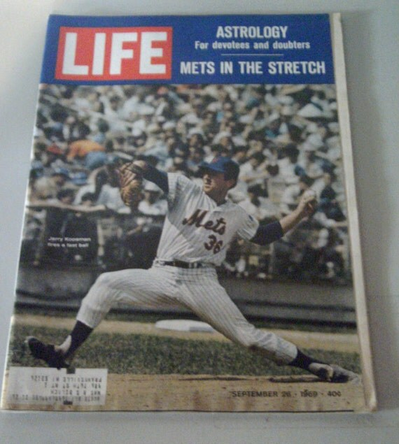Vintage LIFE Magazine September 1969 New York Mets In The Stretch and Astrology Features
