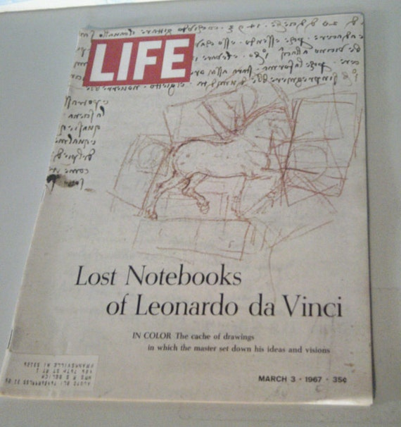 Vintage LIFE Magazine March 1967 Lost Notebooks Of Leonardo da Vinci Issue