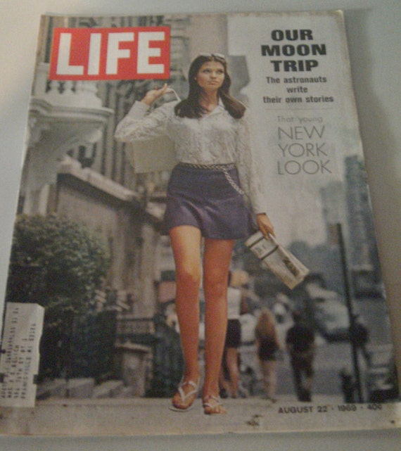 Vintage LIFE magazine August 1969 Our Moon Trip