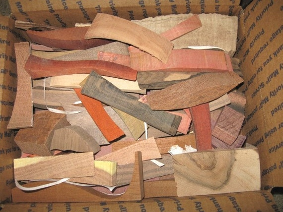 Exotic  Woods Pieces for Intarsia Instrument making or small craft projects