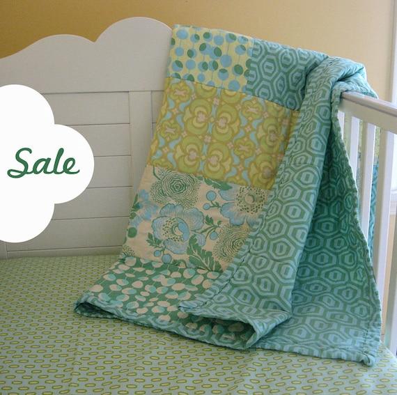 SALE Ohio Sky Baby Quilt