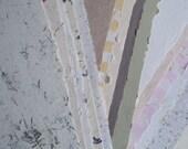 HALF-PRICE: 10 sheets decorative handmade paper 19 x25