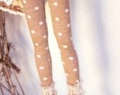 Jiajiadoll- camel dots layered lace legging fits Momoko or Blythe or Misaki
