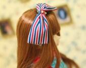 Jiajiadoll- little stripes bowknot head hoop fits momoko and Misaki and OB and unoa light