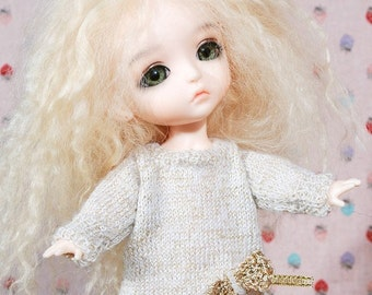 jiajiadoll hand-knitting angel sweater fits Lati yellow