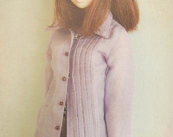 jiajiadoll purple shirts for Momoko or Misaki or Blythe