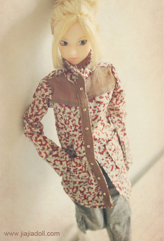 DISCOUNT 30% OFF jiajiadoll camouflage flower shirts for Momoko misaki only