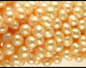 Natural Peach Cultured Freshwater Pearls - GM152