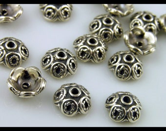 Bali Sterling Silver Bead Caps - S146