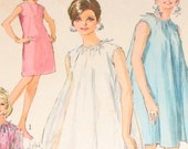 Vintage 1960s Simplicity Pattern 7340 Sheath and Tent Dress UNUSED Bust 36