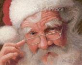 Christmas Santa 11 x 14 Print- FREE SHIPPING this WEEK