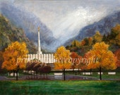 Provo Temple - LDS Temple - Religious Painting - Print - 11 x 14- FREE SHIPPING this Week!