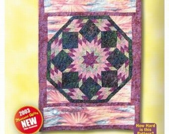 Morning Star Sunrise wall quilt pattern