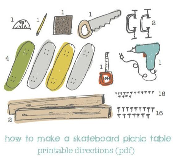Children's Skateboard Picnic Table PDF