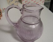 Vintage Purple Glass Pitcher