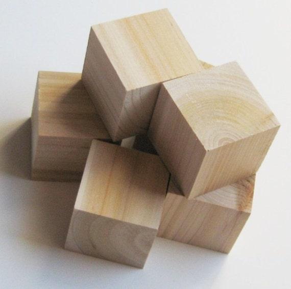 unfinished wooden blocks large 2 inch pack of 5. Black Bedroom Furniture Sets. Home Design Ideas