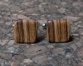 Zebrawood wood cuff links