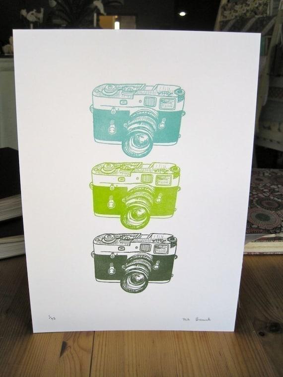 letterpress leica cameras