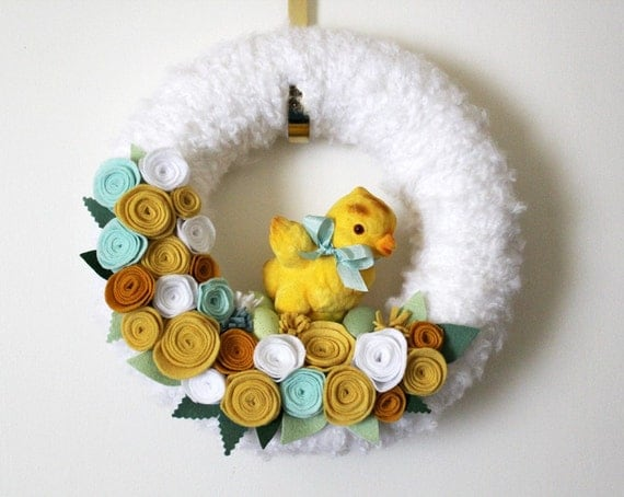 Spring Easter Wreath - My Little Chickadee