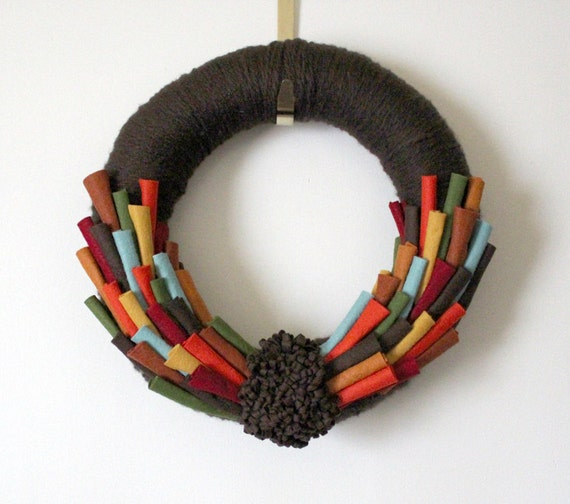 Autumn Wreath, Thanksgiving Wreath, Turkey Wreath, Large 14 inch Size - MADE TO ORDER