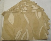 Tan, Cream and Sage Leaf Placemats (Set of 8)