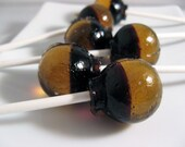Caramel coffee ball style lollipops - 6 pc. - MADE TO ORDER