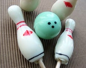 Bowling party lollipops bowling pins and bowling balls - MADE TO ORDER - 20 pieces