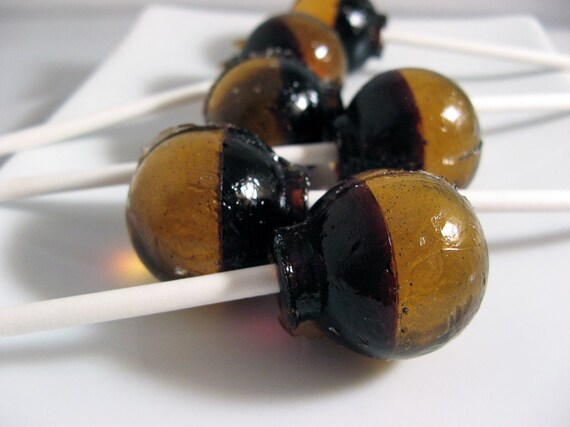 Caramel coffee ball style lollipops - 6 pc. - READY TO SHIP
