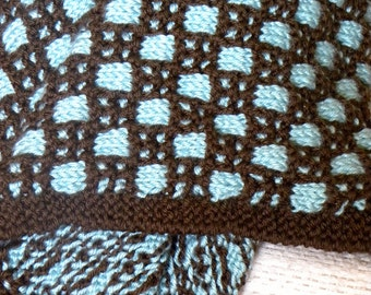 Snunny in Chocolate Brown and Pale Blue (Baby Blanket)