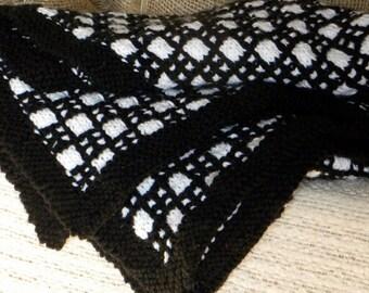 Snunny in Black and White (Baby Blanket)