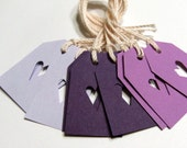 Gift Tags - My Heart Is Yours - Dark Purple - Lilac - Periwinkle (Set of 10)