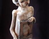 Halloween Dark Surreal Art ORIGINAL SCULPTURE fine art Doll Art SALE---Artifact piece with frame, number 1